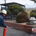 避難訓練・消火器体験